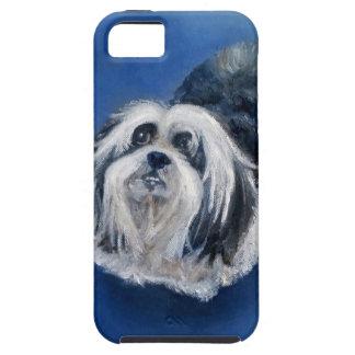 Petit chien espiègle noir et blanc coques iPhone 5