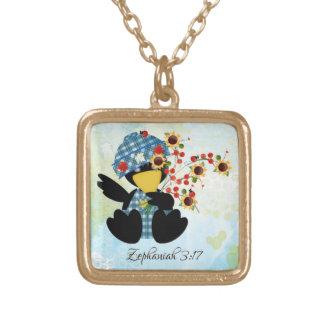 Petit collier de finition d'or d'écriture sainte