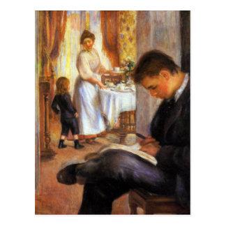 Petit déjeuner chez Berneval par Pierre Renoir Carte Postale