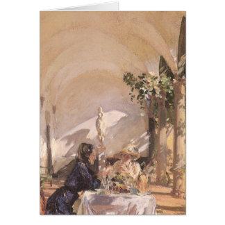 Petit déjeuner dans le bungalow par Sargent, cru Carte De Vœux
