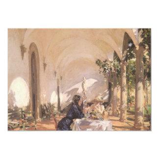 Petit déjeuner dans le bungalow par Sargent, cru Carton D'invitation 12,7 Cm X 17,78 Cm
