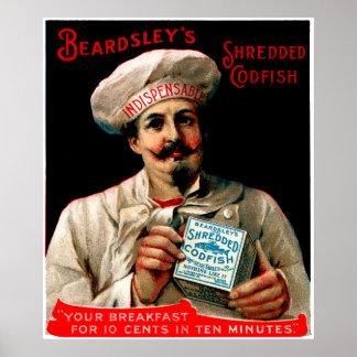 Petit déjeuner déchiqueté de 1895 morues posters