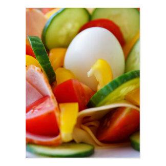 Petit déjeuner végétalien sain carte postale