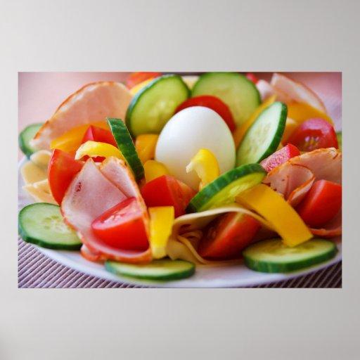 Petit déjeuner végétalien sain affiches