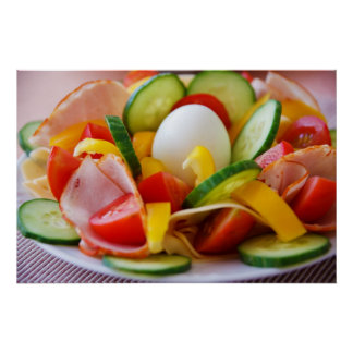 Petit déjeuner végétalien sain poster