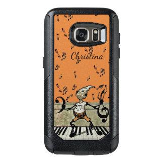 Petit Elf musical vintage heureux sur des clés de Coque OtterBox Samsung Galaxy S7