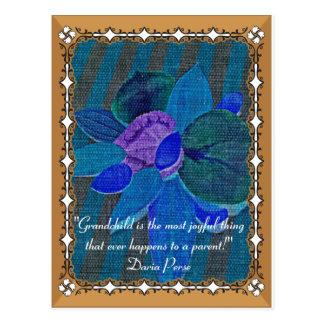 Petit-enfant précieux, carte postale de