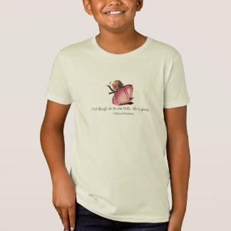 Petit et féroce T-shirt de filles de citation de