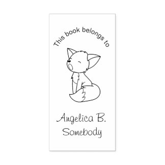 Petit ex-libris somnolent de Fox