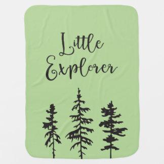 Petit explorateur, couverture de bébé d'arbres de