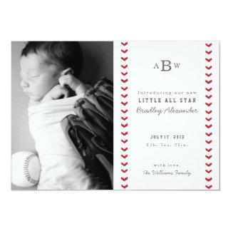 Petit faire-part de naissance d'All Star Carton D'invitation 12,7 Cm X 17,78 Cm