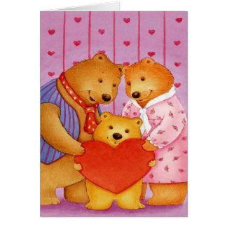 Petit-fils Valentine - carte de voeux