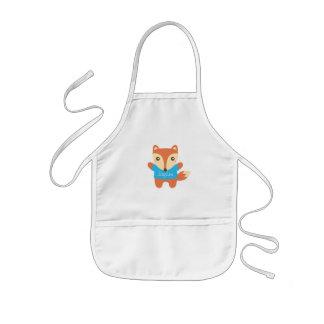 Petit Fox mignon, nom, pour des enfants Tablier Enfant