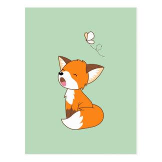 Petit Fox somnolent mignon Carte Postale
