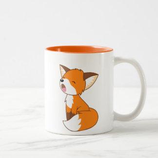 Petit Fox somnolent mignon Tasse 2 Couleurs