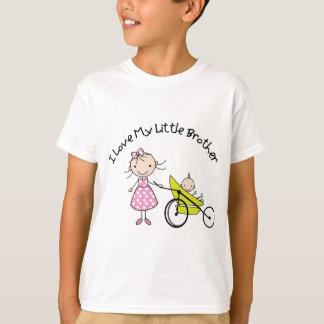petit frère de bébé de grande soeur t-shirt