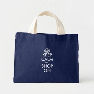 Petit gardez le modèle personnalisable calme du sac en toile mini