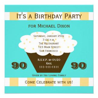 Petit gâteau à la quatre-vingt-dixième invitation