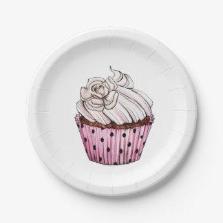 Petit gâteau assiette en papier 17,8 cm