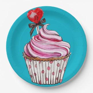Petit gâteau assiette en papier 22,8 cm