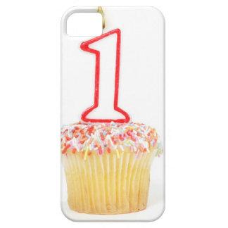 Petit gâteau avec une bougie numérotée 10 iPhone 5 case