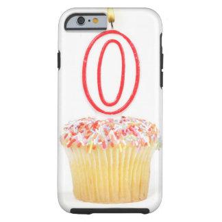 Petit gâteau avec une bougie numérotée coque tough iPhone 6