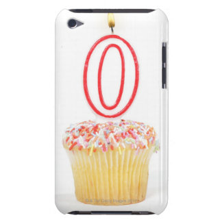 Petit gâteau avec une bougie numérotée coques iPod touch