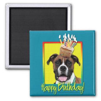 Petit gâteau d'anniversaire - boxeur - Vindy Magnets Pour Réfrigérateur