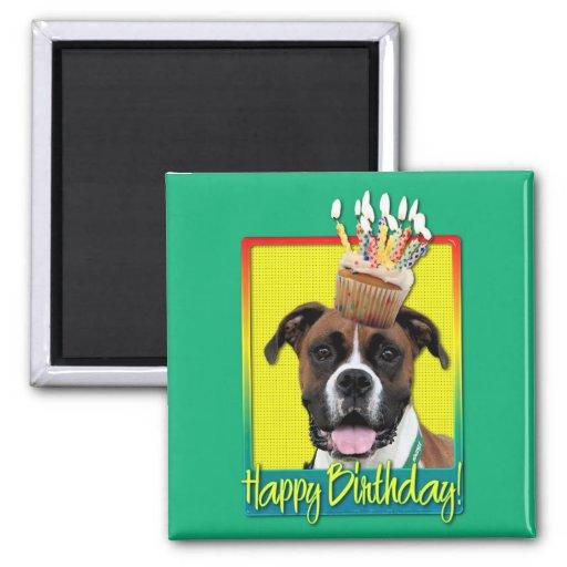 Petit gâteau d'anniversaire - boxeur - Vindy Aimant