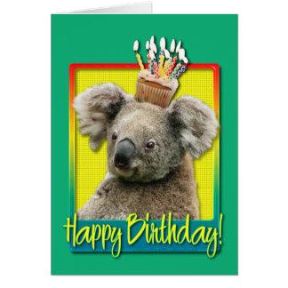 Petit gâteau d'anniversaire - koala cartes