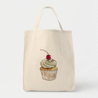 Petit gâteau d'aquarelle avec de la crème et la sacs fourre-tout