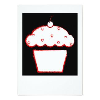 petit gâteau de cerise carton d'invitation  12,7 cm x 17,78 cm