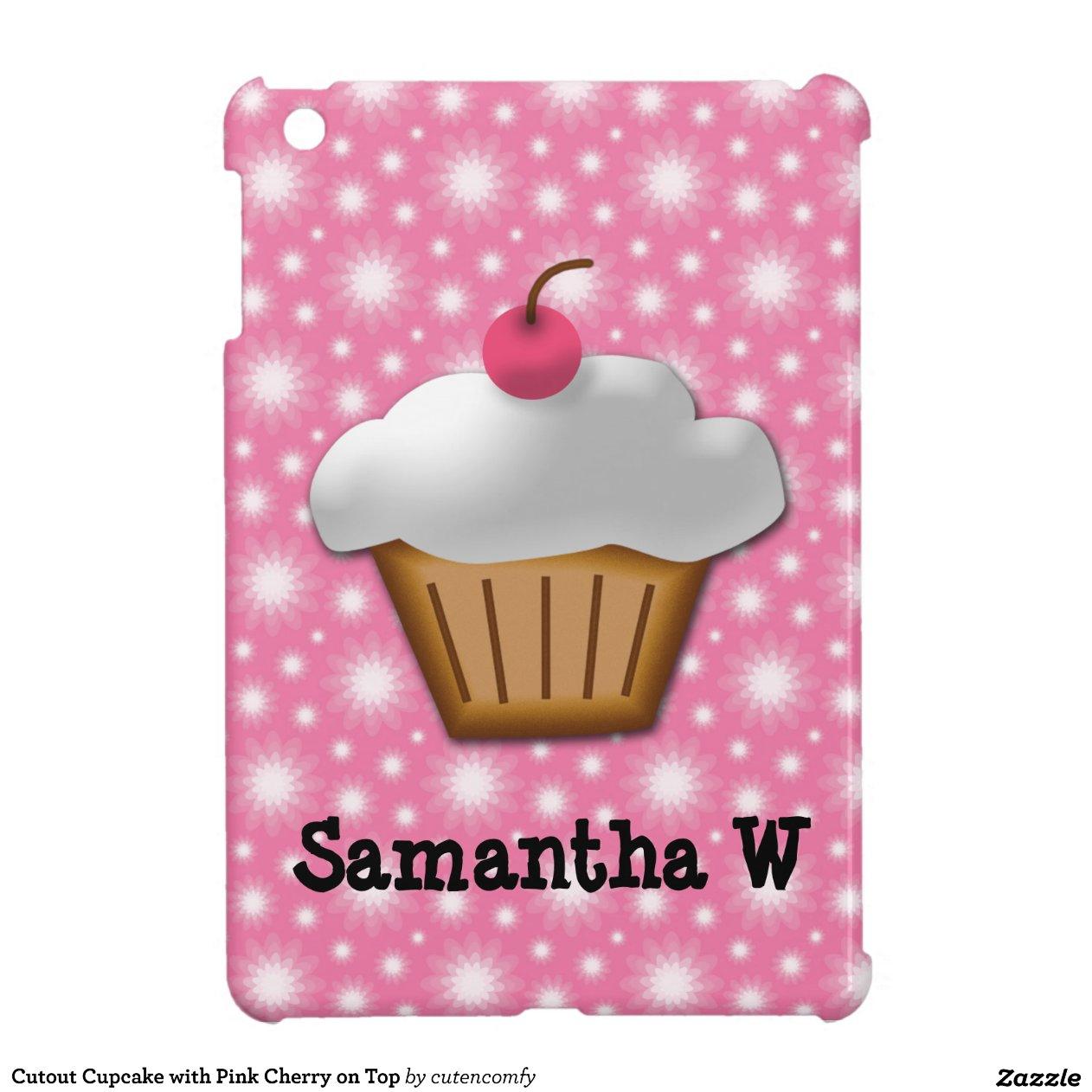 petit g teau de coupe circuit avec la cerise rose coque ipad mini zazzle. Black Bedroom Furniture Sets. Home Design Ideas