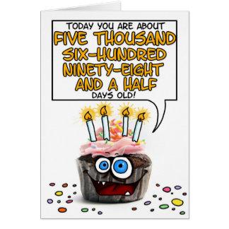 Petit gâteau de joyeux anniversaire - 15 années carte de vœux