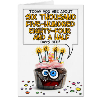 Petit gâteau de joyeux anniversaire - 18 années carte de vœux