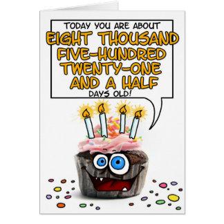 Petit gâteau de joyeux anniversaire - 23 années carte de vœux