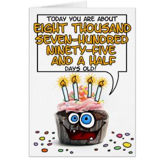 Petit gâteau de joyeux anniversaire - 24 années carte de vœux