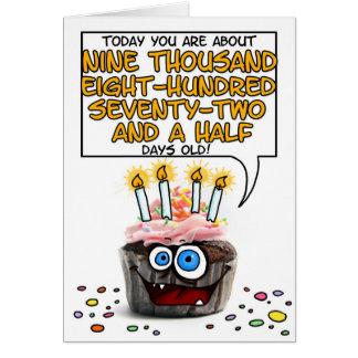 Petit gâteau de joyeux anniversaire - 27 années carte de vœux