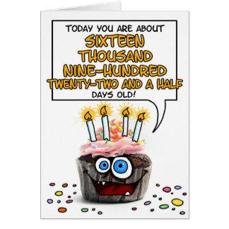 Petit gâteau de joyeux anniversaire - 46 années carte de vœux