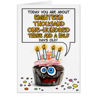 Petit gâteau de joyeux anniversaire - 49 années carte de vœux