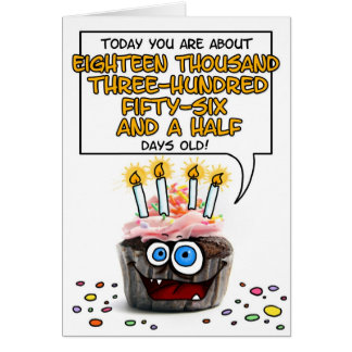 Petit gâteau de joyeux anniversaire - 50 années cartes de vœux