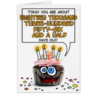 Petit gâteau de joyeux anniversaire - 50 années carte de vœux