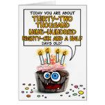 Petit gâteau de joyeux anniversaire - 90 années carte