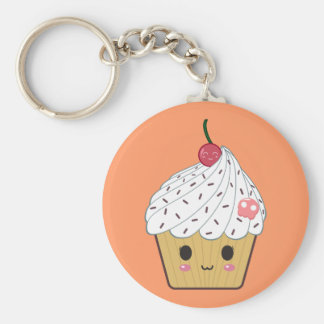 Petit gâteau de Kawaii avec le crâne et la cerise Porte-clés