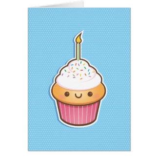 Petit gâteau de Kawaii Carte De Vœux