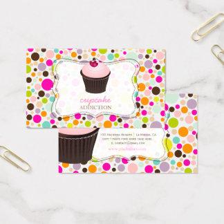 Petit gâteau de PixDezines do-it-yourself+pois Cartes De Visite