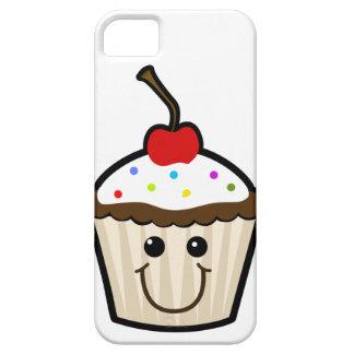 Petit gâteau de visage de sourire étui iPhone 5