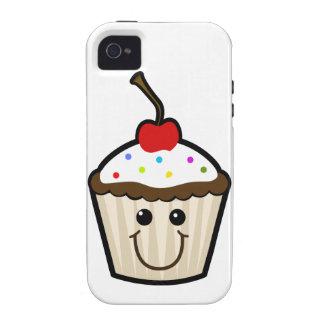 Petit gâteau de visage de sourire coque iPhone 4/4S