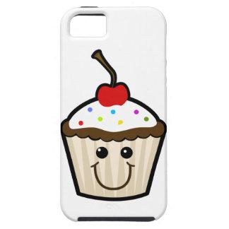 Petit gâteau de visage de sourire iPhone 5 case