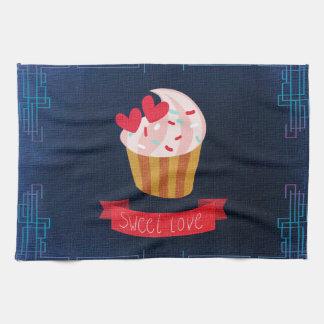 Petit gâteau doux d'amour serviette éponge